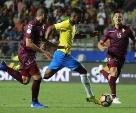 Rodrygo representou o Brasil infiltrado. EFE