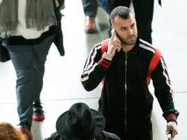 Jesé arrive à Lisbonne. EFE