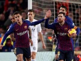 Doppietta di Messi al Camp Nou. EFE