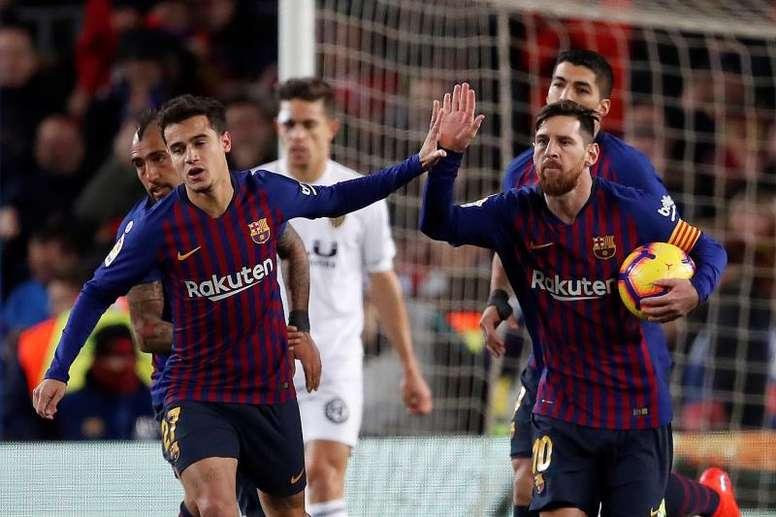 Le Barça donne un mois de marge à Coutinho. EFE
