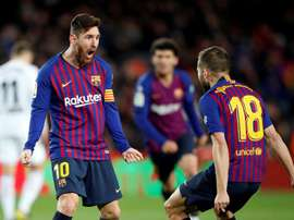 Jordi Alba and Messi combine to form a lethal partnership in front of goal. EFE