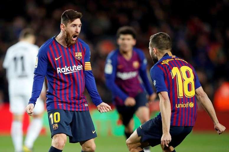 Jordi Alba n'a toujours pas prolongé avec le FC Barcelone. EFE