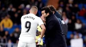 Benzema ne jouera pas dimanche face à Gérone. EFE