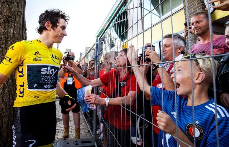 El ciclista Geraint Thomas (i) del equipo Sky. EFE/Archivo