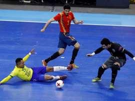 Brasil venció por 1-3 a España. EFE