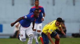 Iván Angulo, la gran promesa colombiana que sigue el Madrid. EFE