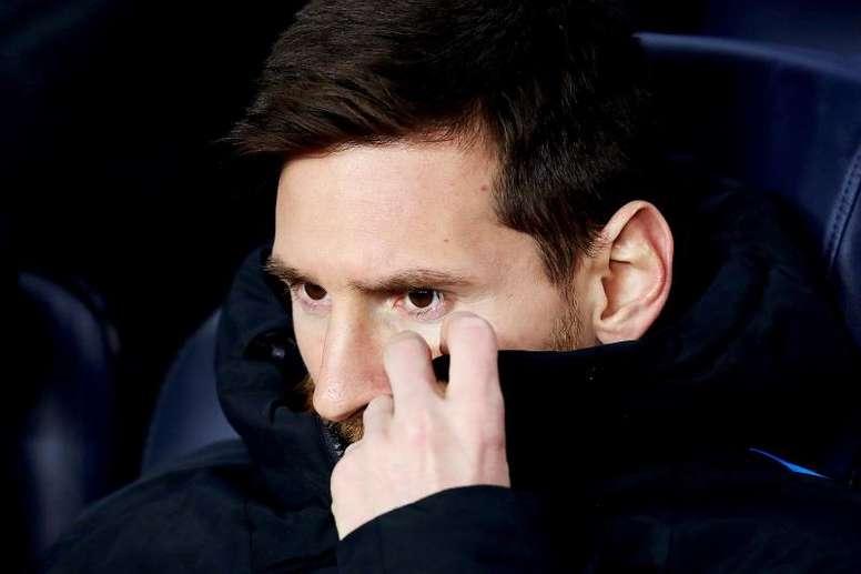 Messi a démarré depuis le banc. EFE