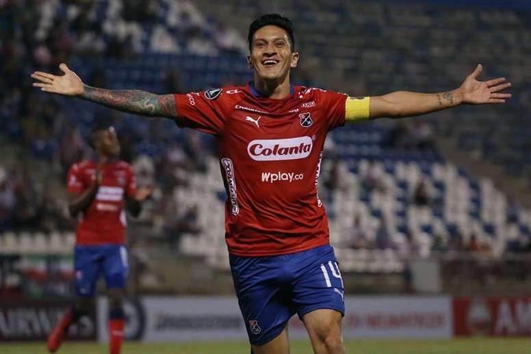 Germán Cano sueña con la Selección. EFE