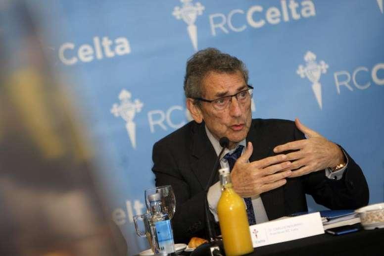 Carlos Mouriño se enfrenta a su peor momento desde que es presidente. EFE