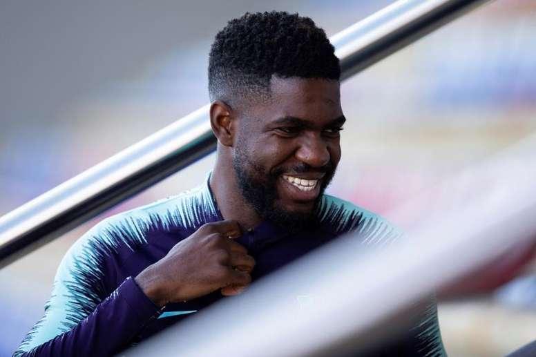 Umtiti veut jouer face à Lyon. EFE/Archive