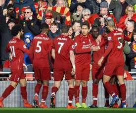 O Liverpool reassume a liderança. EFE/EPA