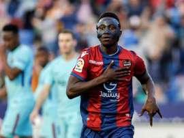 Levante négocie la vente de son joueur. EFE