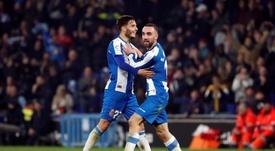 El Espanyol celebró otra victoria. EFE