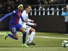 El técnico del Barça denunció un insulto racista contra Andressa Alves. EFE/Archivo
