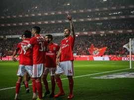 Seferovic foi o autor do golo da vitória do Benfica. EFE/EPA