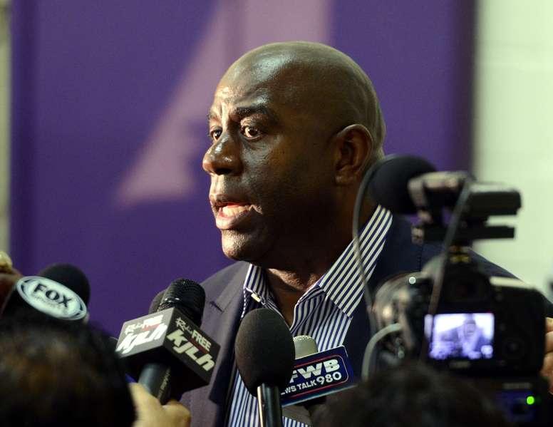 El exjugador de los Lakers de Los Ángeles Magic Johnson. EFE/Archivo