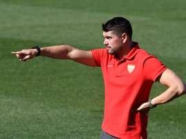 El Sevilla sigue confiando en su entrenador. EFE