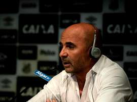 Sampaoli was delighted that the Santos fans were chanting his name. EFE