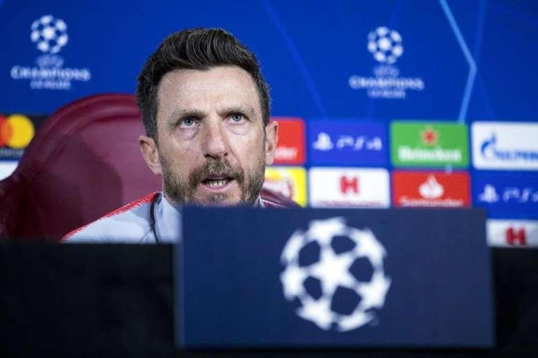 Di Francesco espera um jogo muito complicado frente ao FC Porto. EFE
