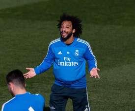 Marcelo, sem treinar a dois dias da Champions. EFE/Archivo