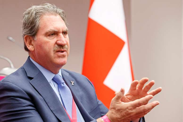 El presidente de la ITF, David Haggerty. EFE/Archivo