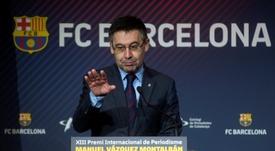 Bartomeu a de nouveau confirmé Valverde. EFE/Archive