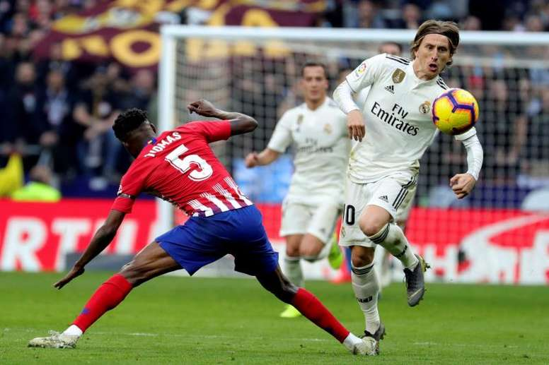 Thomas a été sanctionné de deux jaunes contre le Real Madrid. EFE