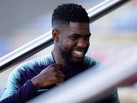 Umtiti, em foco no Barça. EFE/Archivo