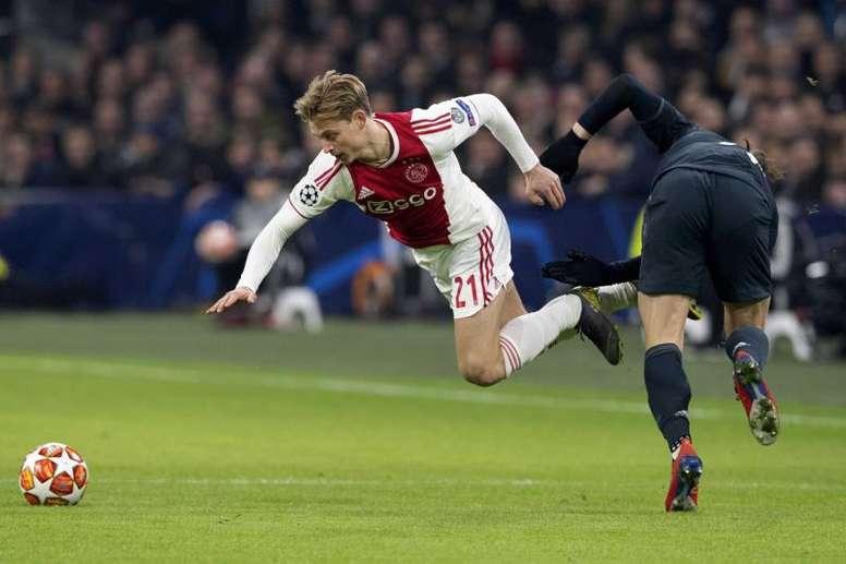 De Jong no sobresalió ante el Madrid. EFE