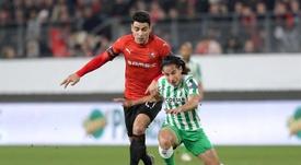 Lainez apuntilló el marcador en el empate en Rennes. EFE