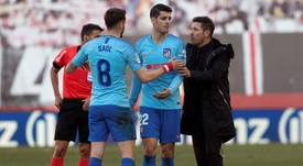Morata praised his coach and spoke of the wave of departures in Atletico. EFE