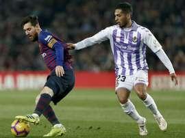Messi regala  i tre punti al Barcellona. EFE