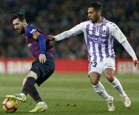 Lionel Messi had a game of mixed fortunes as Barcelona overcame Valladolid. EFE