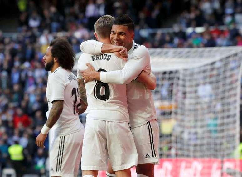 Casemiro et Kroos pourraient être absents au Camp Nou. EFE
