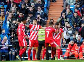 Portu's header sealed the victory for Girona. EFE