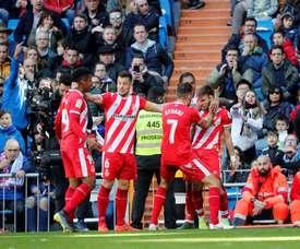 Portu's header sealed the victory for Girona. EFE