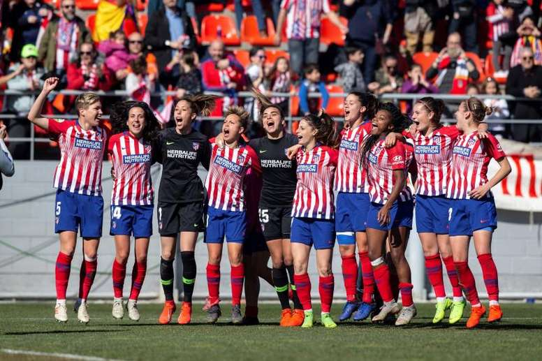 El Atlético Femenino recibe al Barça en el Wanda Metropolitano. EFE