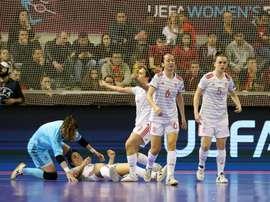 España venció 4-0 a Portugal en la final del Europeo Femenino. EFE