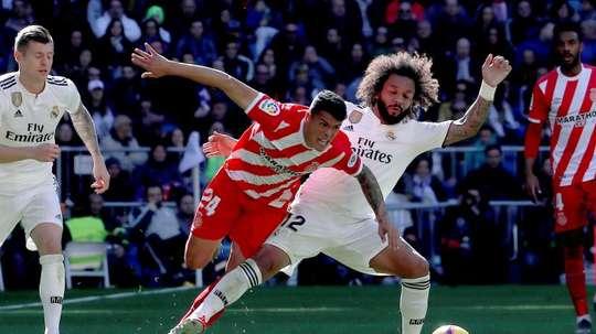 Marcelo faz lembrar Cristiano. EFE