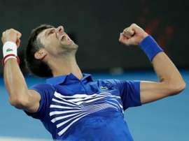 Novak Djokovic, tras ganar el Abierto de Australia. EFE/Archivo