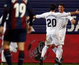 Los dueños del gol en el Getafe. EFE