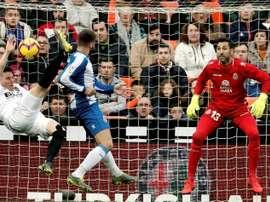 Diego Lopez passe les 100 matchs avec l'Espanyol. EFE