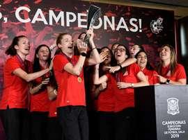 Rubiales prometió más apoyo al fútbol femenino. EFE