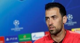 Sergio Busquets se mostró optimista con respecto al golpe de Messi. EFE