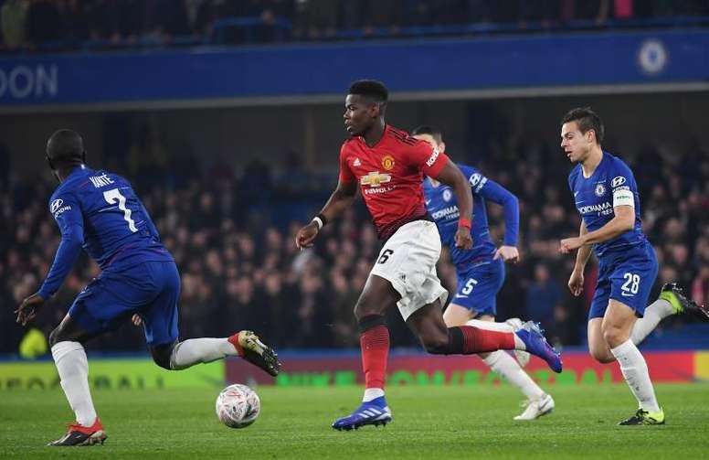 El Manchester United eliminó al Chelsea. EFE