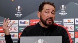 Pablo Machín lamentó la eliminación. EFE