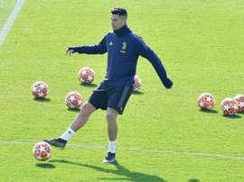 Ronaldo continued to train alone. EFE