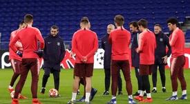 Volvieron al trabajo tras el empate en Lyon. EFE