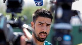 Khedira volvió a los entrenamientos tras su lesión. EFE/Archivo