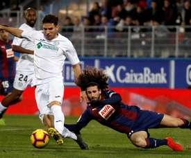 Cabrera, en el último partido ante el Eibar. EFE